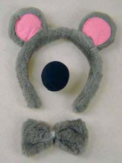 Set Maus Mausset Kostüm Maus Mauskostüm