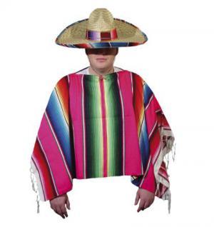 Poncho original Mexico Kostüm Mexikaner
