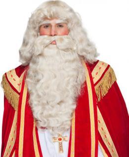 Perücke Nikolaus Nikolausperücke Perücke Weihnachtsmann SONDERPREIS Santa Clause Perücke Bart Augenbrauen Nikolaus Set Sankt Martin Bart Perücke