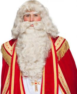 Santa Clause Perücke Bart Augenbrauen Nikolaus Set Sankt Martin Bart Perücke