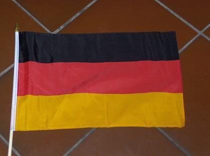 Fahne Deutschland mit Stock - Vorschau