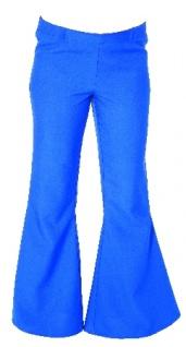 Schlaghose blau SONDERPREIS Kostüm Hippie Hippiekostüm Schlaghose 70er Hose Schlag