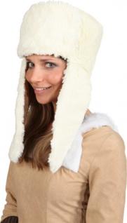 Fellmütze Mütze Fell Hut Fell creme - weiß Mütze Fell