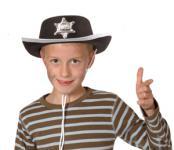 Cowboyhut Sheriff Cowboy Hut Kinder Gr. 55-57