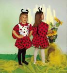 Marienkäfer Kostüm für Kinder Karneval Fasnet