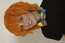 Wollhaarperücke Clown orange Wollperücke Clownperücke Perücke Clown