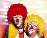 Wollhaarperücke Wollperücke Clown gelb oder rot Perücke Kostüm Clownperücke SONDERPREIS