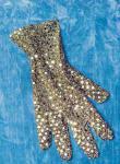 Pailetten Handschuhe gold Glitzerhandschuh Glitterhandschuh Glitzerhandschuhe