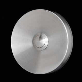 Edelstahl Klingelplatte - Rund 79mm - 12mm stark - Vorschau 1