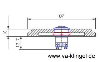 Edelstahl Klingelplatte - Rund 79mm - 12mm stark - Vorschau 2