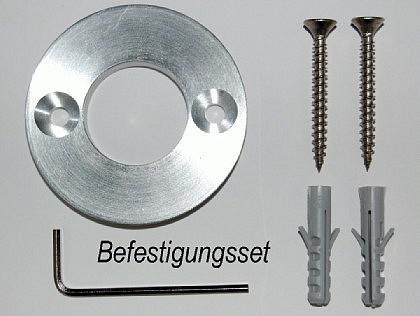 Edelstahl Klingelplatte - Rund 79mm - 12mm stark - Vorschau 4