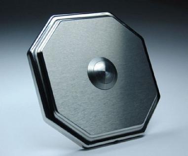 Edelstahl Klingelplatte - Achteck 87mm-10mm stark - Vorschau 1