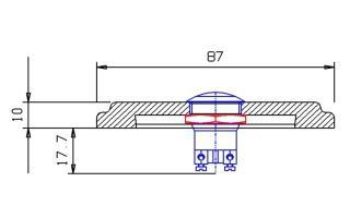Edelstahl Klingelplatte - Achteck 87mm-10mm stark - Vorschau 2