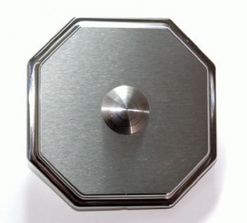 Edelstahl Klingelplatte - Achteck 87mm-10mm stark - Vorschau 3