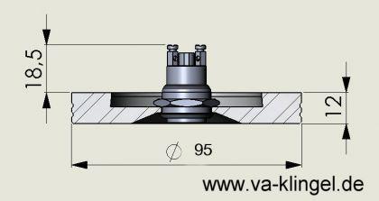 Edelstahl Klingelplatte - Rund 95mm - 12mm stark - Vorschau 2