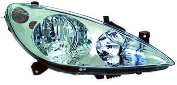 H1 / H1 / H7 Scheinwerfer rechts TYC für Peugeot 307 00-05