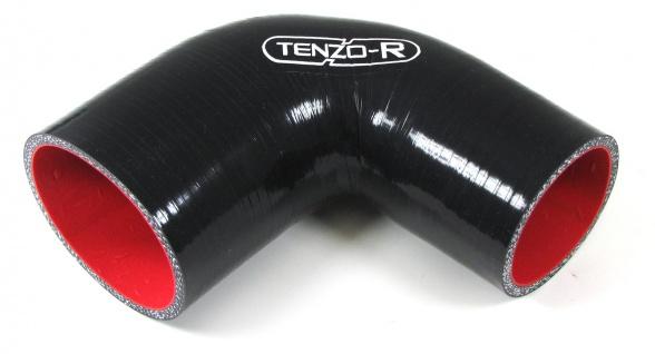 Tenzo-R Silikonschlauch verstärkt Verbindung Abgewinkelt 90° Reduzierung 64*76mm - Vorschau 1