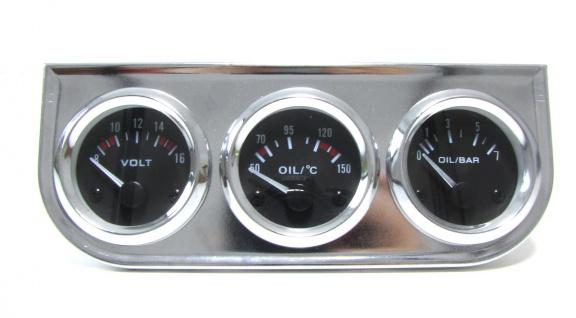 Zusatz Instrumente Youngtimer Kombi chrom Öltemperatur Volt Öldruck