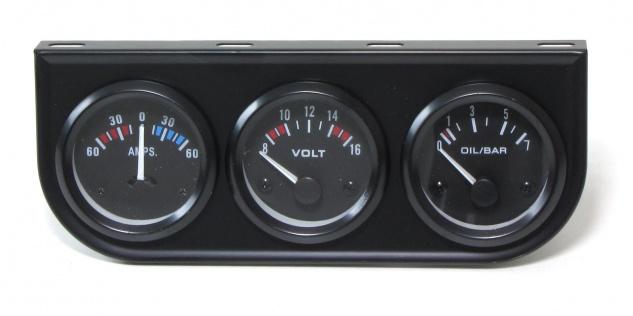 Zusatz Instrumente Youngtimer Kombi schwarz Ampere Volt Öldruck