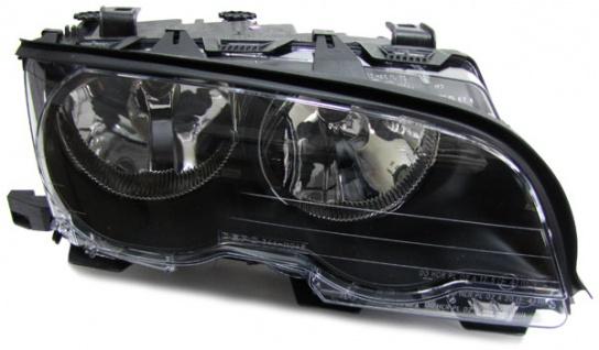 SCHEINWERFER H7 H7 SCHWARZ RECHTS FÜR BMW 3ER E46 Coupe Cabrio 99-03