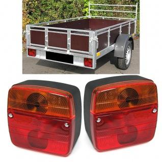Universelle Anhänger Wohnwagen Caravan Rückleuchten Beleuchtung Paar 12 Volt