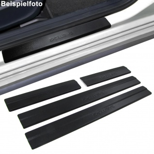 Edelstahl Einstiegsleisten Exclusive schwarz für Ford Focus III 4Türer ab 11