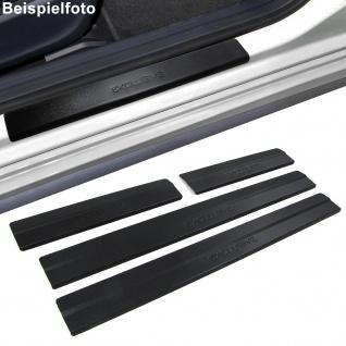 Edelstahl Einstiegsleisten Exclusive schwarz für VW Passat 3C B6 05-10