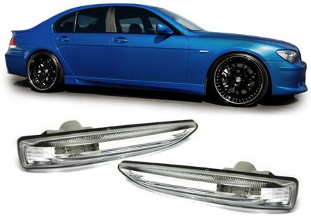 Seitenblinker Klarglas chrom für BMW 7er E65 E66 01-08