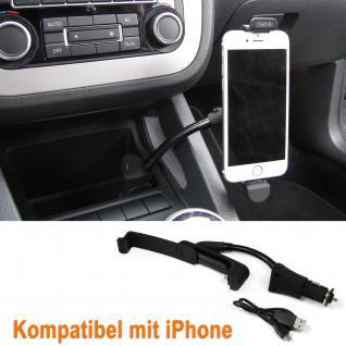 AKTIV KFZ HANDY HALTER HALTERUNG BEFESTIGUNG USB UND LADEGERÄT iPHONE 5 5S 6 6S