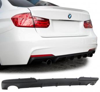 Heck Diffusor Endrohr beidseitig Performance Look für BMW 5er F10 Limousine