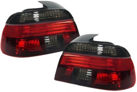 *** Klarglas Rückleuchten rot schwarz für BMW 5er E39 Limousine 95-00