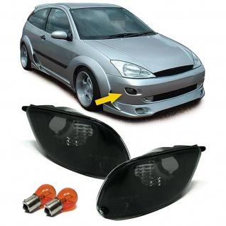 Blinker schwarz Klarglas Paar mit Leuchtmittel für Ford Focus 98-01