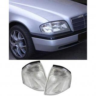Weiße Blinker Paar für Mercedes C Klasse W202 93-00