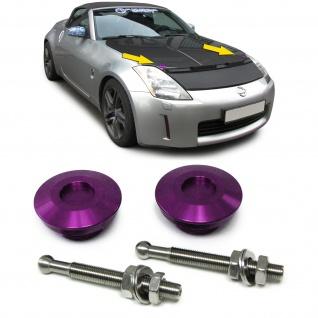 Alu Motorhauben Schnellverschluss Verriegelung Rennsport Violett - Vorschau 1