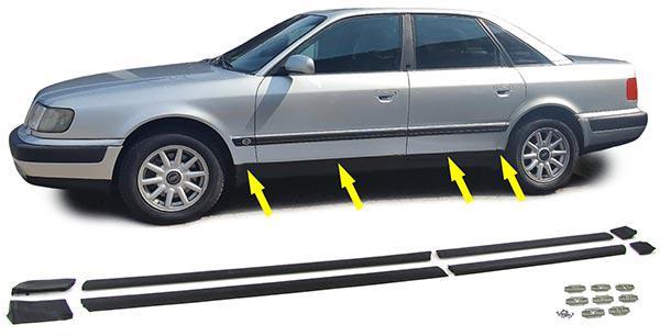 Stoßleisten Zierleisten TÜrleisten Set Unten FÜr Audi 100 C4 90-94 - Vorschau 2