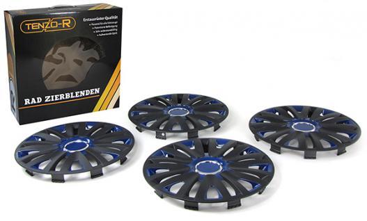 Radkappen Radzierblenden Tenzo-R X für Stahlfelgen 14 Zoll schwarz blau - Vorschau 3