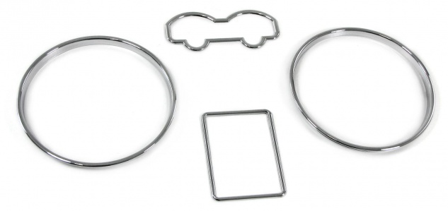 Tachoringe Abdeckungen Blenden 3 teilig chrom für VW Golf 4 95-06 Bora 98-05