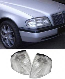 Weiße Blinker Paar für Mercedes C Klasse W202 93-00 - Vorschau
