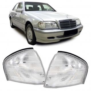 Blinker weiß Paar für Mercedes C Klasse W202 Limousine S202 Kombi T-Model 93-01