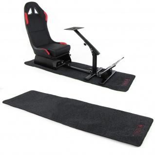 Tenzo-R Unterlage Teppich schwarz rot für Spielsitz Konsole Playstation Xbox PC