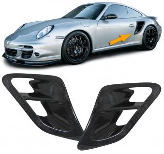 Carbon Lufteinlässe Cover Abdeckung Paar für Porsche 911 997 Turbo 06-12