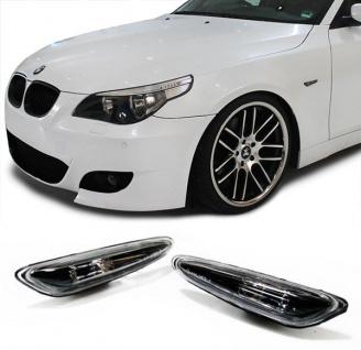 Klarglas Seitenblinker schwarz für BMW 3er E46 5er E60 E61 X3