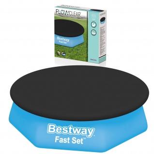 BESTWAY Schutz Abdeckung für Fast Set Pool Swimmingpool Schwarz Ø 244cm