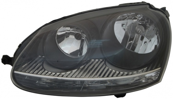 H7 / H7 Scheinwerfer schwarz links TYC für VW Golf V GTI 03-09