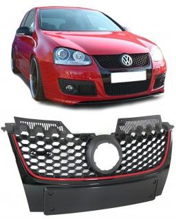 Sport Waben Grill Kühlergrill für Emblem + Nummernschildhalter für VW Golf 5 V