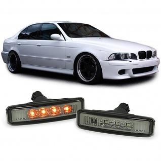 Klarglas LED Seitenblinker Schwarz Smoke für BMW 5er E39 95-03