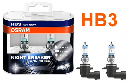 Night Breaker Unlimited HB3 60W 12v Halogenleuchtmittel