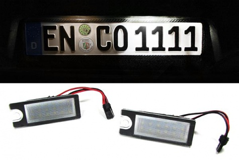 LED Kennzeichenbeleuchtung weiß 6000K für Volvo V70 XC70 S60 S80 XC90