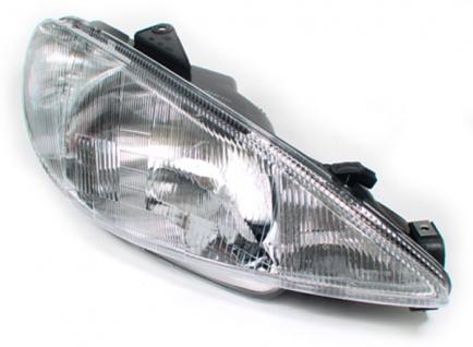 H4 Scheinwerfer rechts für Peugeot 206 98-03 - Vorschau