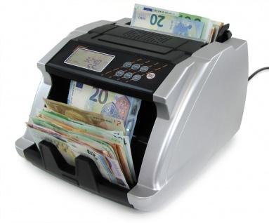 Geldzählmaschine Wertzähler Banknoten Geldzähler silber mit LCD Display TYP 2